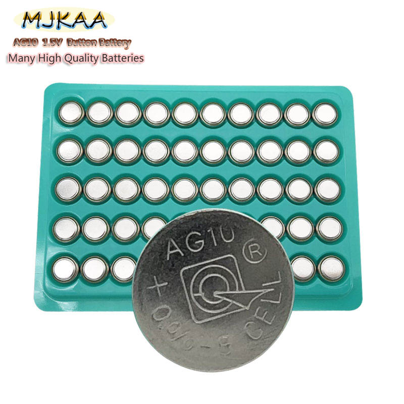 50pcs AG10 LR1130 1130 SR1130 389A LR54 L1131 1.5V Button Battery MP3 Players,Toys Watch Batteries Zn/MnO2 Batteria