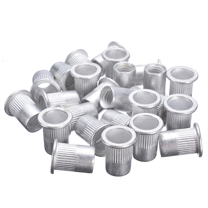 M4 To M8 Aluminum Thread Rivet Nuts Inserts Nutsert For Metal Plastic 100pcs//Set