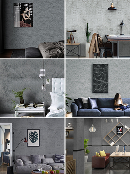 self-adhesiveWallpaper  clothing store gray wallpaper nordic industrial wind wall sticker decorative bedroom room cement wall