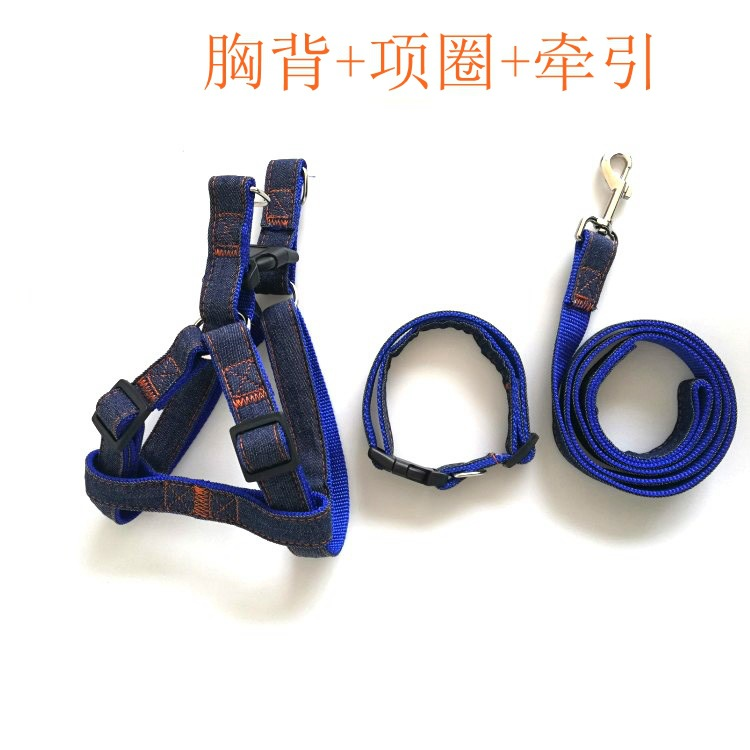 Bay Jiarui Fashion Cowboy Applique Hand Holding Rope Chest And Back Neck Ring Set Small Large Dog Universal