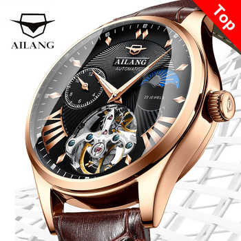 AILANG Quality Tourbillon Men\'s Watch Men Moon Phase Automatic Swiss Diesel Watches Mechanical Transparent Steampunk Clock - Category 🛒 Watches