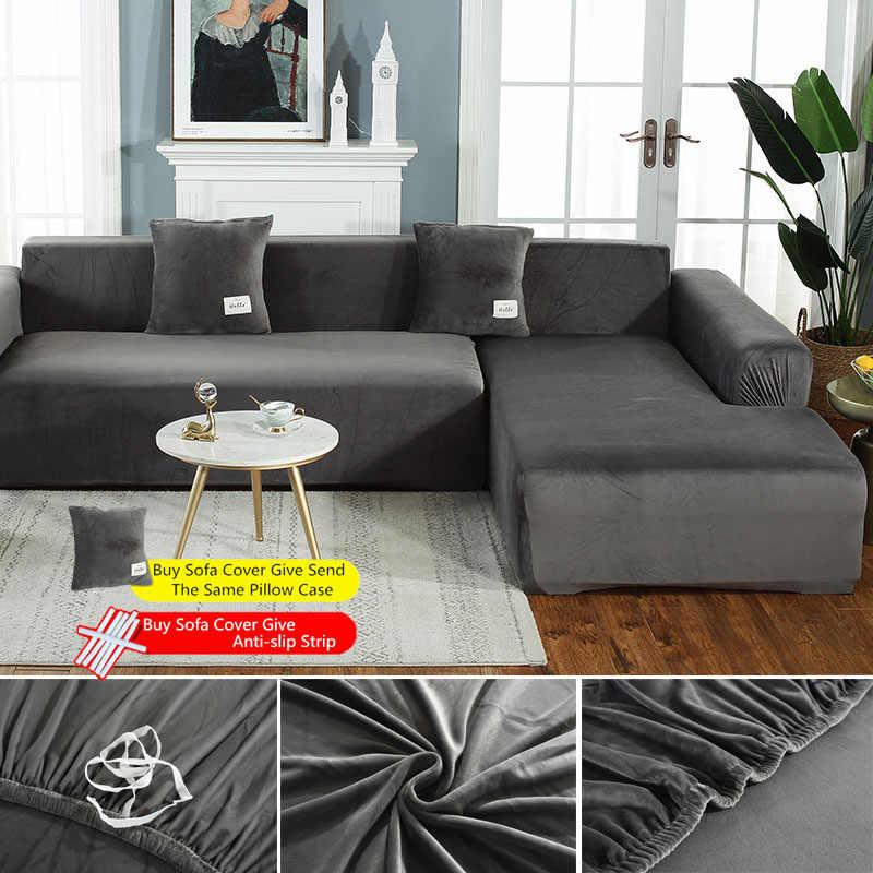 thick velvet sofa cover elasticity non slip couch slipcover universal case stretch sofa covers for chaise sofa pillowcase