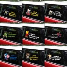 Светоотражающие детские наклейки с супергероями, автомобильные наклейки и наклейки, Стайлинг автомобиля, окно, виниловые наклейки для автомобиля, настенные Стикеры