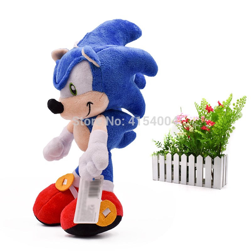 10 pcs/lot Sonic Soft Doll Blue Sonic Cartoon Animal Stuffed…