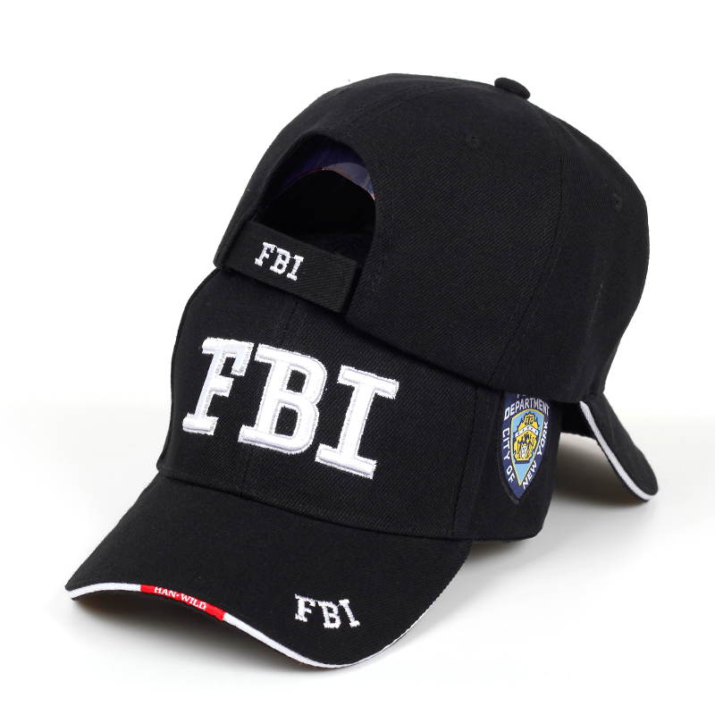 New FBI Letter Embroidered Baseball Cap Men Women's Hip Hop Fashion Cotton% Dad Hats Outdoor Sunshade Hat Adjustable Sports Caps