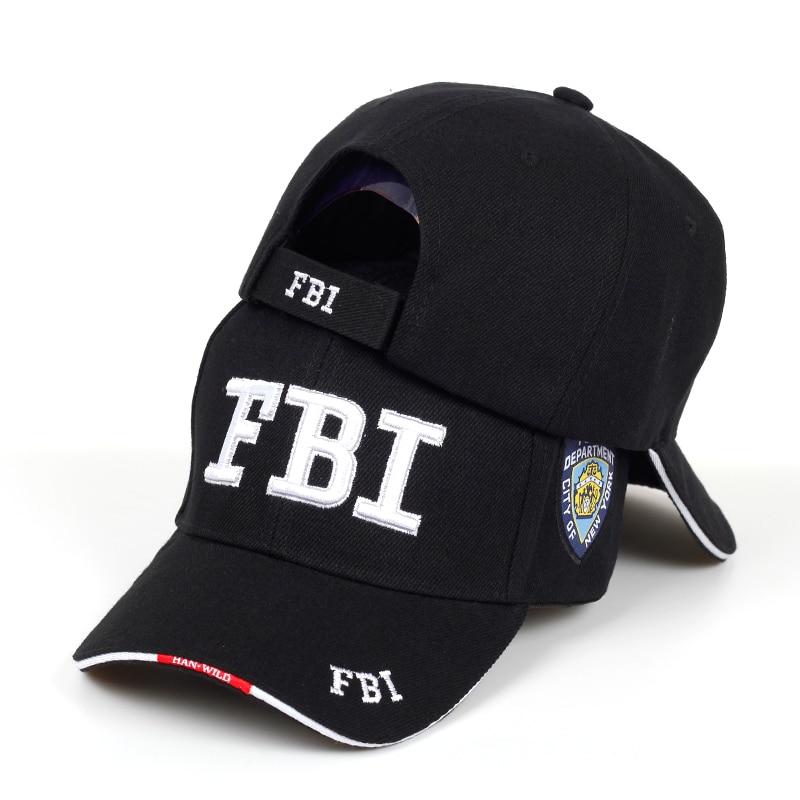 New FBI Letter Embroidered Baseball Cap Men Women's Hip Hop Fashion Cotton% Dad Hats Outdoor Sunshade Hat Adjustable Sports Caps