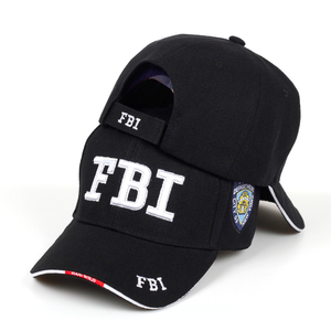 New FBI letter embroidered baseball cap men women's hip hop fashion cotton% dad hats outdoor sunshade hat adjustable sports caps(China)