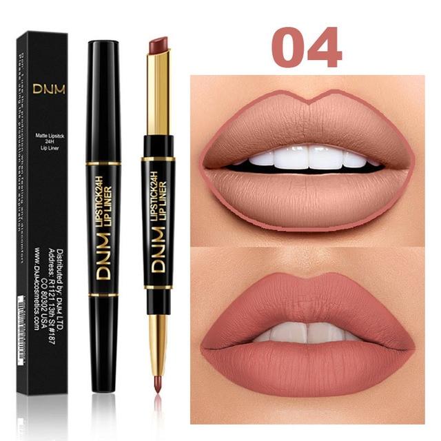 Waterproof Matte Lipstick Pencil Lip Liner Makeup  3