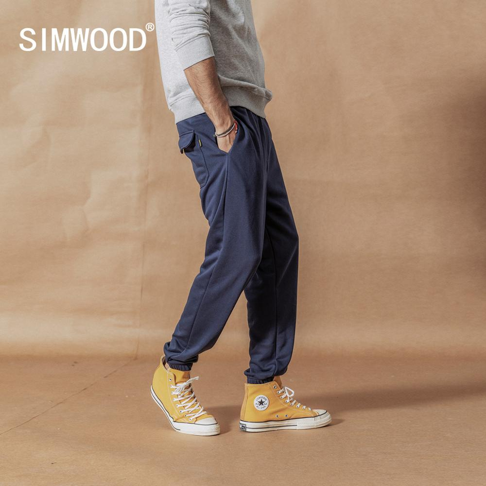 SIMWOOD Track-Pants Jogger Ankle-Length-Trousers Loose Casual Fashion SI980559 Texture title=