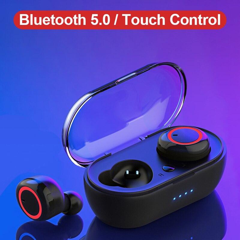 WK V5.0 TWS Fones de Ouvido Bluetooth 3D Stereo Fone De Ouvido Bluetooth Sem Fio Fones de Ouvido Fones De Ouvido com Caixa De Carregamento Microfone Duplo