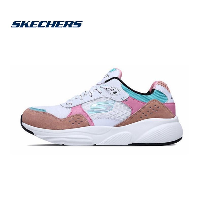 despierta Descodificar avión  Skechers zapatos deportivos de malla para mujer, zapatillas deportivas  transpirables cómodas, 13019 WPKB|Zapatos planos de mujer| - AliExpress