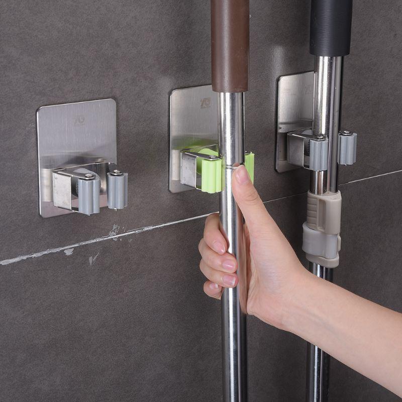 Er Brush Broom Hanger Rack Kitchen Tool Waterproof Kitchen Bathroom Space Saver