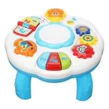 Пластиковый Музыкальный барабан для фортепиано, Детский обучающий стол, Музыкальный барабан, игровой стол для младенцев, Детская ранняя игрушка для обучения подарки