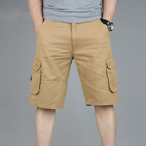 Image 2 - Cargo Shorts Men Summer Casual Mulit Pocket Shorts 2020 Men Joggers Shorts Trousers Men Breathable Big Tall 42 44 46 Large Size