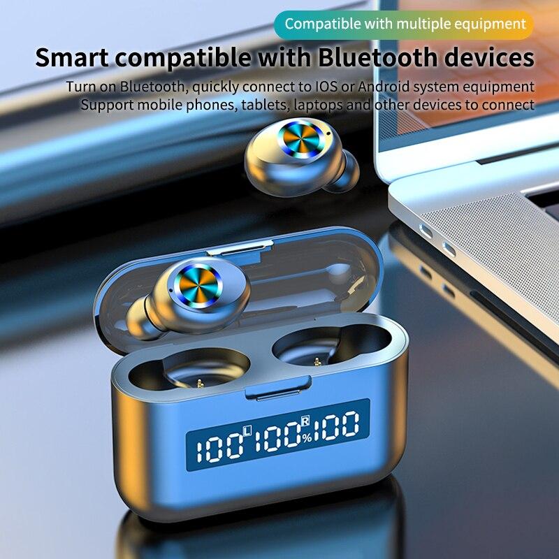 TWS Bluetooth беспроводные наушники, настоящие спортивные наушники с микрофоном, игровая гарнитура, водонепроницаемые наушники для Xiaomi Huawei Oppo ...