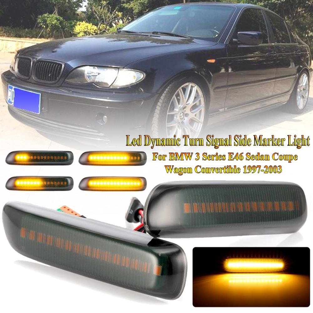 RIGHT BMW 3 E46 1998-2001 2X NEW SIDE INDICATOR REPEATER SILVER PAIR LEFT