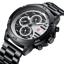 BIDEN Business Men's Watch 2019 Quartz Wrist Watches Black Stainless Steel Calendar New Arrival Stylish Relogio Masculino Clocks все цены