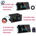 AC 50-300V 10A 100A LCD Digital Panel Wattmeter Energie Power Meter Spannung Voltmeter Strom Amperemeter Frequenz Anzeige 450V