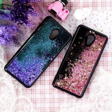 Black Liquid Quicksand Case For Meizu M3 M5 M6 Note Case Coque Bling Soft Silicone Back Cover For Meizu M3Note M5Note M6Note