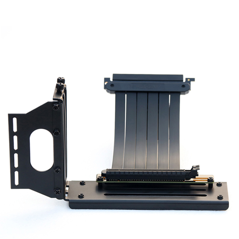 PCIe 3.0 Gaming PC Modding X16 Riser Cable upgraded Black extensor pcie x16 gpu riser Cooler Vertical Graphics Card Holder Kit|Computer Cables & Connectors| - AliExpress