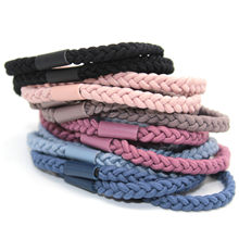 New Arrival Women Hair Accessories Elastic Hair Bands Seamless Strong Durable Handmade Woven Twist 5pcs/lot()