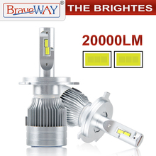 BraveWay 20000LM LED Auto Scheinwerfer Lampen H1 H11 H7 H4 LED Lampen HB3 HB4 H8 Nebel Lampen Auto Licht Lampen 12V 24V Motorrad Lichter