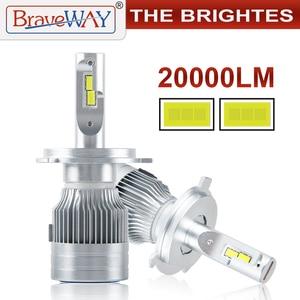 Image 1 - BraveWay 20000LM LED Car Headlight Bulbs H1 H11 H7 H4 LED Lamps HB3 HB4 H8 Fog Lamps Auto Light Bulbs 12V 24V Motorcycle Lights