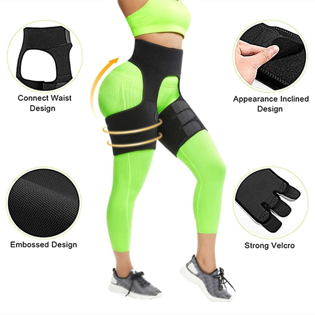 Waist Training Sweat Shapewear Slim Thigh Trimmer Leg Shapers Slimming Belt Fat Burning Compress Belt 2