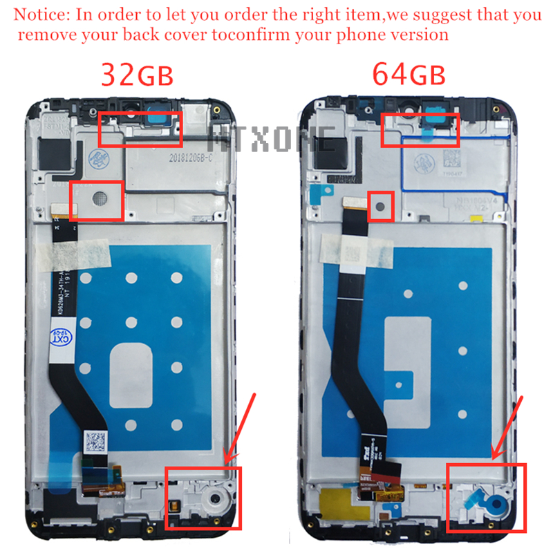 "Image 2 - Original 6.26"" for Huawei Y7 Pro Prime 2019 LCD Display Touch Screen Digitizer Assembly LCD Display TouchScreen Repair Parts-in Mobile Phone LCD Screens from Cellphones & Telecommunications"