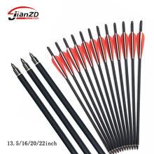 8.8 mm Carbon Crossbow Arrow 13.5/16/20/22 Inches 100 Grain Arrow Point for Archery Hunting Shooting