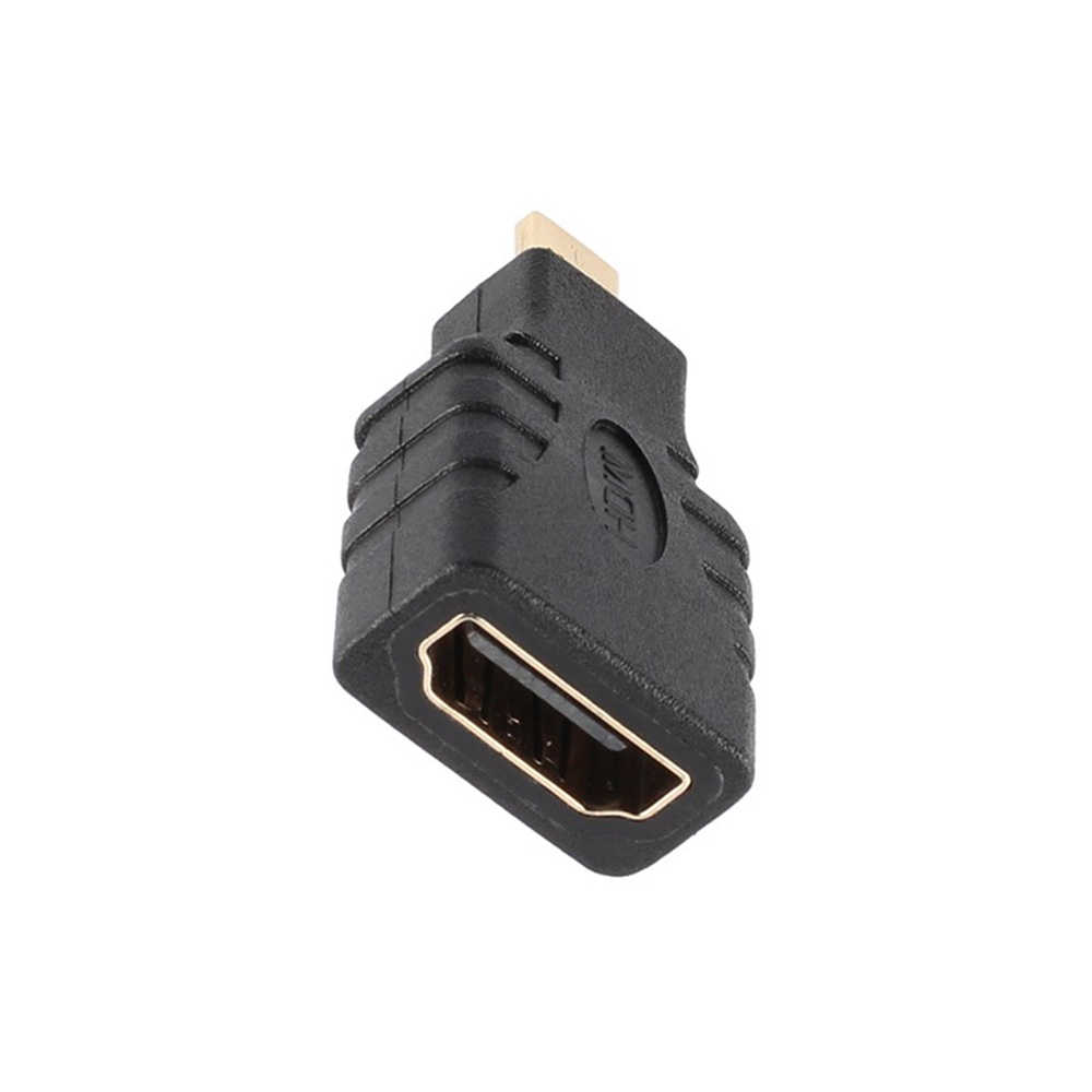 Man-vrouw HDMI Micro HDMI naar HDMI Adapter Extension Adapter 1080p Converter voor Telefoon Tablet HDTV Camera MP4 connector