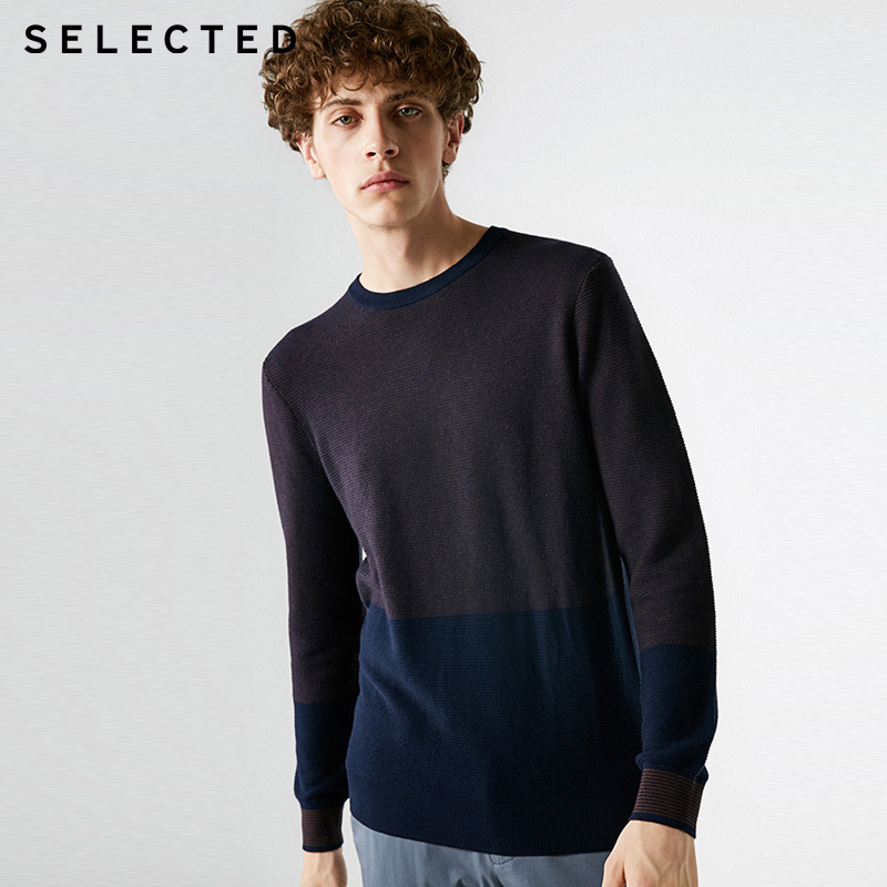 SELETED Mens 7% Cashmere Round Neckline Assorted Colors Knitted Sweater  | 418324530