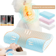Memory Foam Pillow Bamboo Cervical Thrapy Bedding Orthopedic Pillow For Neck Support Back Health Care Fiber Slow Rebound Soft(China)