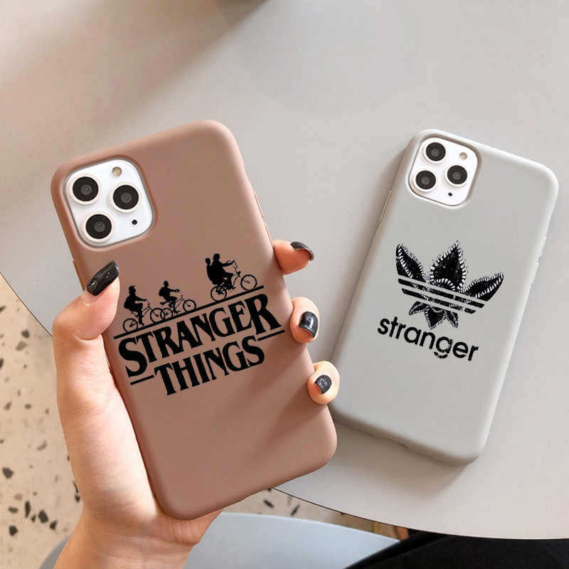 Luxury Stranger Things 3 Case for iPhone 11  XR  X Xs Max 8 7 6 Plus 6S 5S SE Soft Silicone Phone Cover Soft Coque