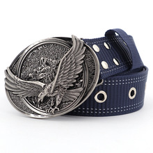 Belts for Fashion Man Eagle Buckle Nylon Tactical Belt Milit
