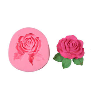 Molds Sugarcraft Decorating-Tools Clay Rose-Flower-Mold Chocolate Fondant Cake Candy