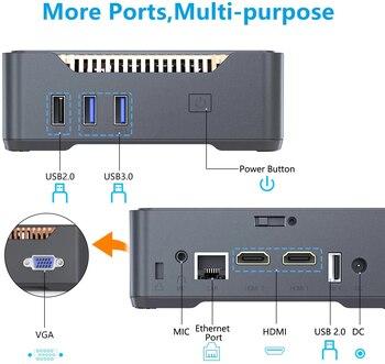 GK3V Mini PC Intel Celeron J4125 Windows 10 8GB DDR4 128GB 256GB 512GB 1TB SSD Gaming PC 2.4G 5G WiFi 1000M Mini Computer 5