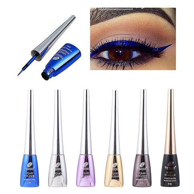 6 Colors Long-lasting Liquid Eyeliner Waterproof Starry Blue Quick-dry Cosmetics glitter Eye Shadow Pencil Makeup Beauty Tools