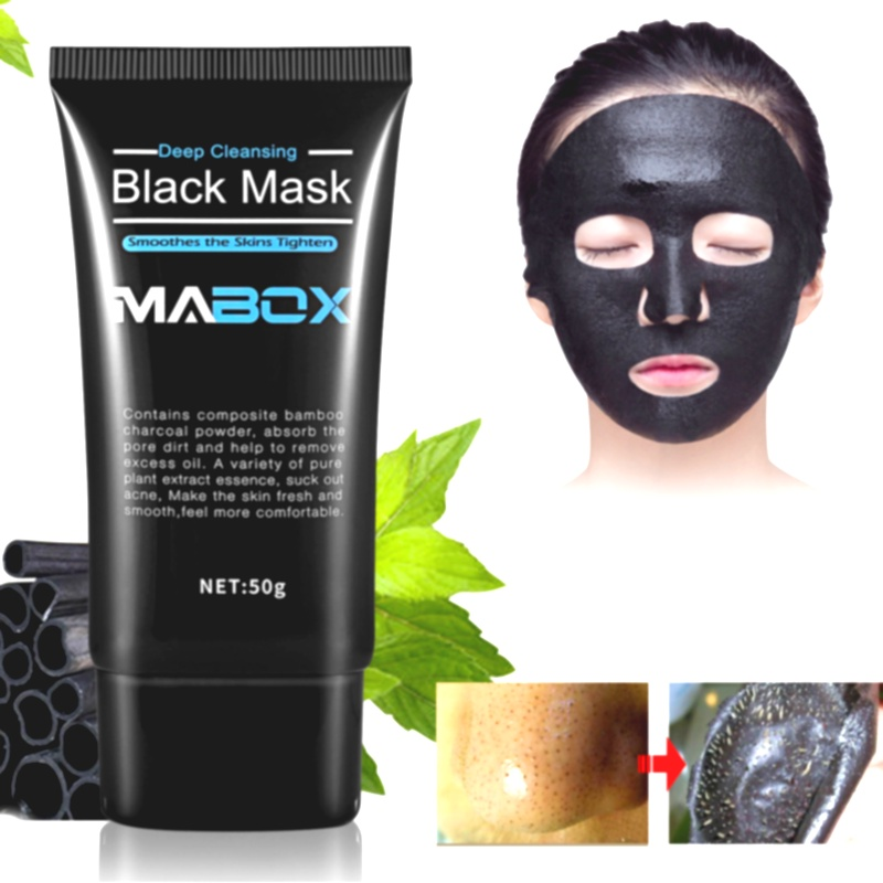 Mabox Hot Sale Facial Skin Care Black Mask Bamboo Charcoal Deep Sea Mud Remove Blackheads Horny Mask Deep Cleansing Skin Care|Treatments & Masks| - AliExpress