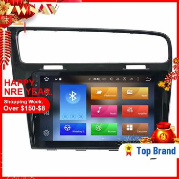 Andriod 8.0 Car Multimedia player 2 Din Car DVD For VW Volkswagen golf 2013 2014 2015 2016 Radio stereo GPS Navi head unit 4+34G image
