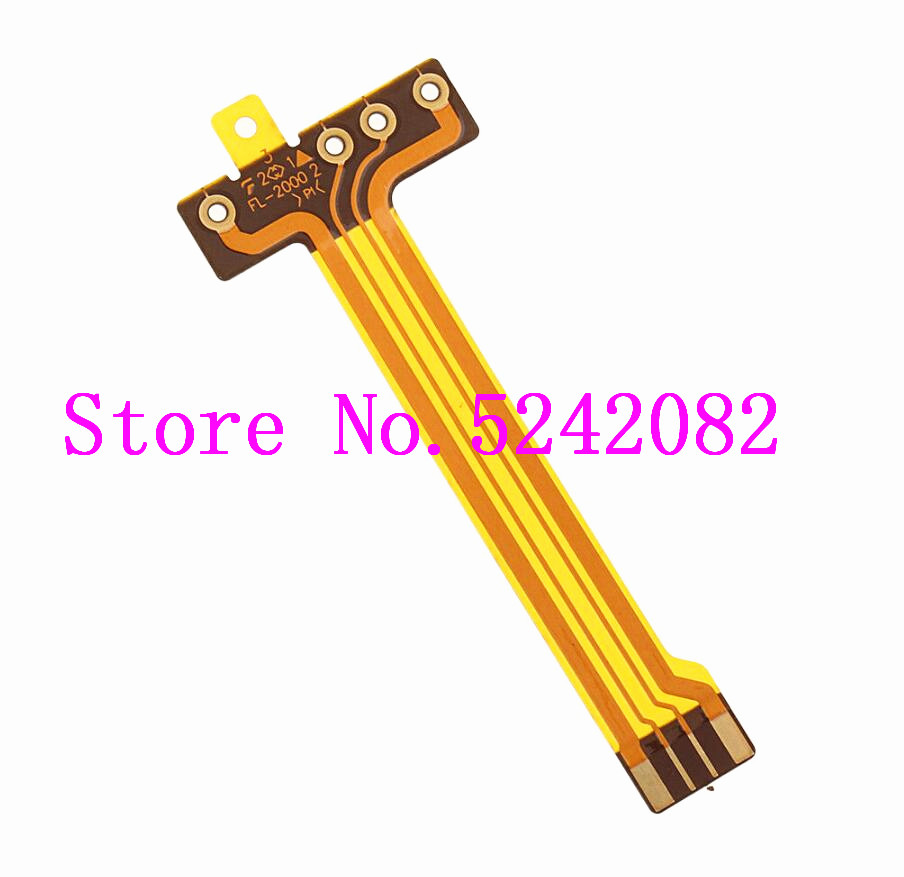 3PCS/NEW Flash Lamp Flex Cable for SONY Cyber-Shot DSC-HX50 DSC-HX60 HX50V HX50 HX60 V RX1 Digital Camera Repair Part image