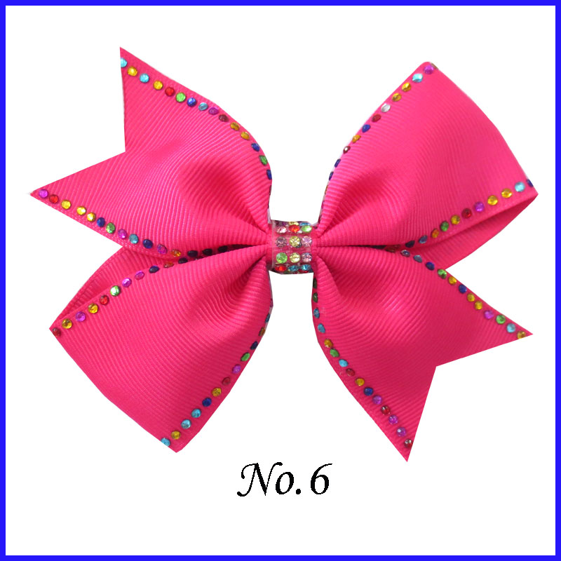 "16 BLESSING Girl Rhinestone Rainbow 4.5/""  Diamonds Wing Hair Bow Clip Hairbows"