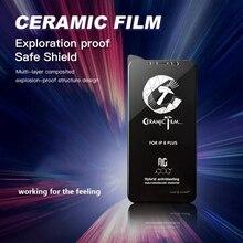 10 pçs 9 h cola completa filme cerâmico para iphone 11 pro max xr x xs max pmma protetor de tela para iphone 6s 6 7 8 mais cerâmica filme