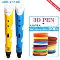 Dewang 3D Druck Stift LED/LCD Bildschirm 3D Stift zeichnung Stift + 100M 1,75mm verbrauchs Mit ABS /PLA kinder spielzeug geburtstag präsentieren