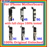 Free iCloud For iphone 4 4s 5 5c 5s 5se Motherboard ,100% Original Unlocked For iphone 5S  5SE No Touch ID logic board Tested