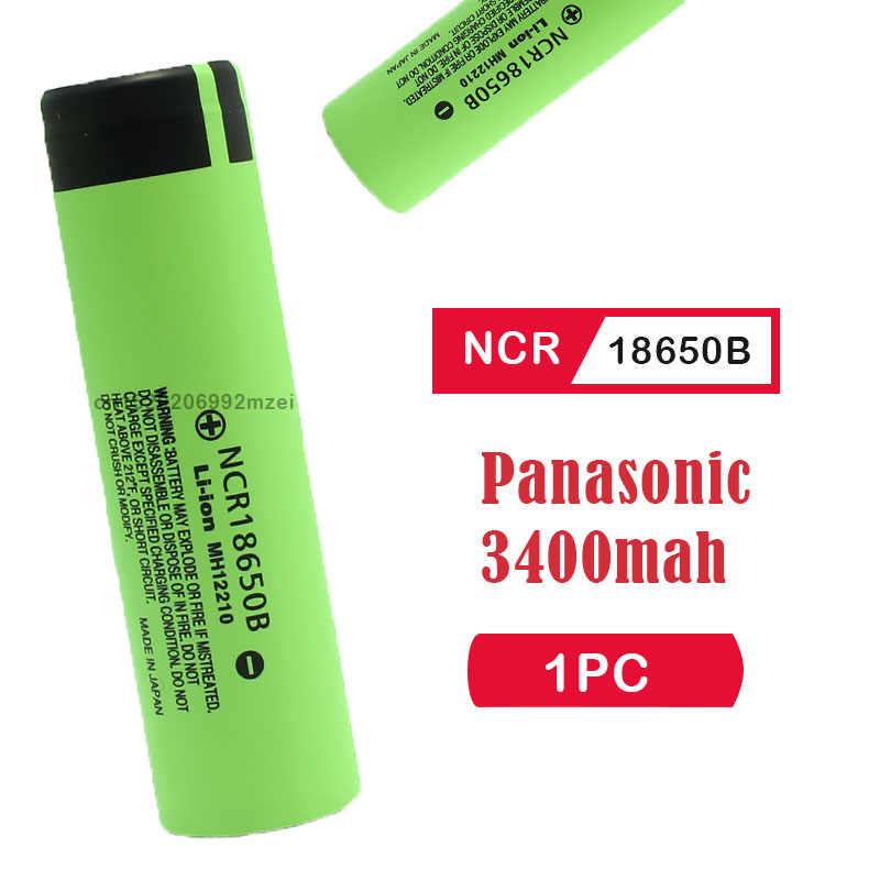 送料無料 100% 新パナソニックオリジナル NCR18650B 3.7v 3400 18650 リチウム充電式バッテリー懐中電灯の電池