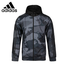 Original New Arrival Adidas Originals CAMO WINDBREAKE Men's jacket Hooded Sports