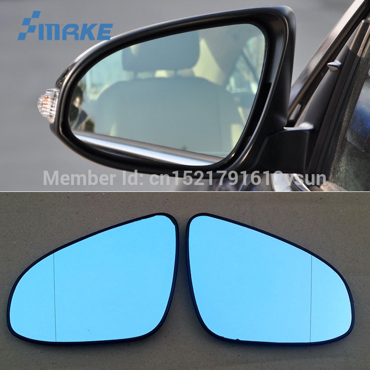 smRKE 2Pcs For Toyota Camry 7th Rearview Mirror Blue Glasses Wide Angle Led Turn Signals light Power Heating