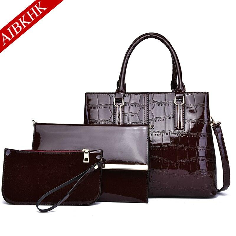 3pcs Set Leather Handbag Women Bags For Women 2019 Luxury Handbags Women Bag Crossbody Bags For Women Shoulder Bag Purses