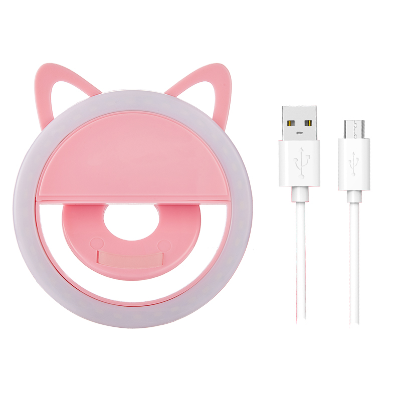 USB Charge Led Selfie Ring Light Mobile Phone Lens LED Selfie Lamp Ring Flash Selfie Light portrait lens image